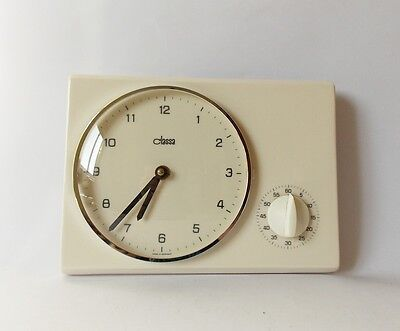Vintage Art Deco style 1960s Ceramic Kitchen Wall clock CLASSA Made in Germany