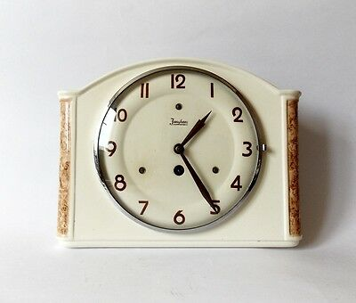 Vintage Art Deco style 1930s Ceramic Kitchen Wall clock JUNGHANS Made in Germany