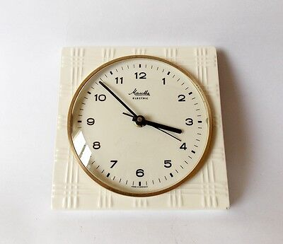 Vintage Pop Art style 1970s Ceramic Kitchen Wall clock MAUTHE Made in Germany ,