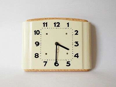 Vintage Art Deco style 1960s Ceramic Kitchen Wall clock Made in Germany Decor