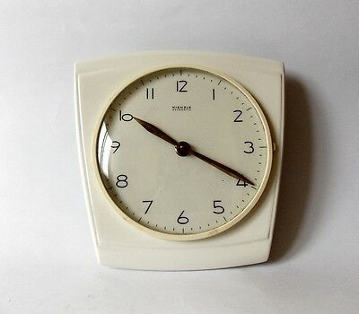 Vintage Art Deco style 1960s Ceramic Kitchen Wall clock KIENZLE Made in Germany
