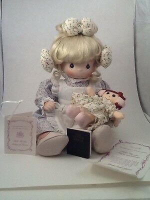 Precious Moments doll tell me the story of Jesus COA bible 1956B