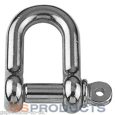 12mm Stainless Steel A4-AISI 316 D Shackle Dee FREE P+P