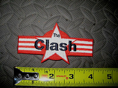 The CLASH PATCH High Quality Embroidery die cut Punk Rock Joe Strummer Iron On