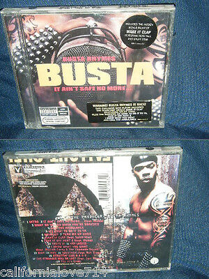 Busta Rhymes It Ain't Safe No More Cd (Pa ) ✔☆New/sealed☆✔ Make It Clap Remix