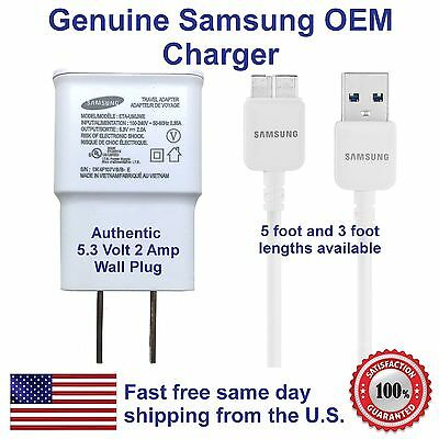 NEW ORIGINALSAMSUNG OEM USB WALL CHARGER DATA SYNC CABLE FOR Galaxy S5 & Note 3