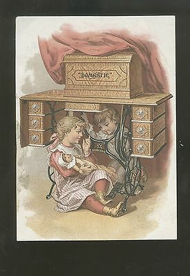 c1900 Victorian Trade Card Domestic Doll With Children