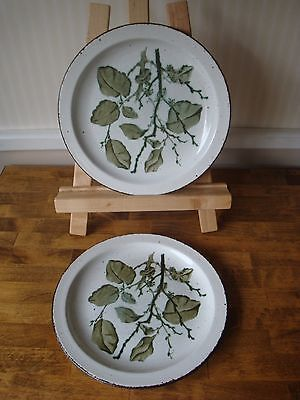 Midwinter Stonehenge Greenleaves Salad Plates - Two - England 8 3/4""