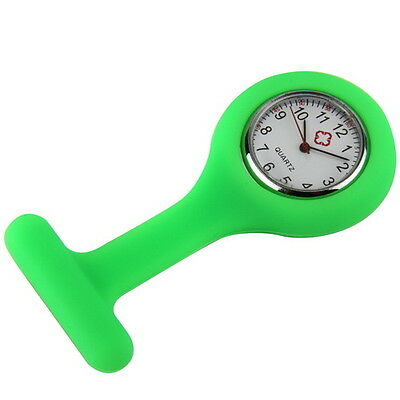 New Green Nurse Watch Wear On Clothes Pocket Pin Portable Tunic Fob Kid