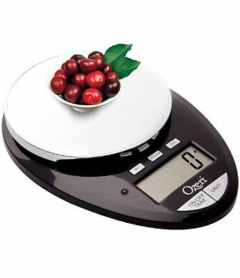 Ozeri Pro II Digital Kitchen Scale in Stylish Black, 1g to 12 lbs Capacity, with