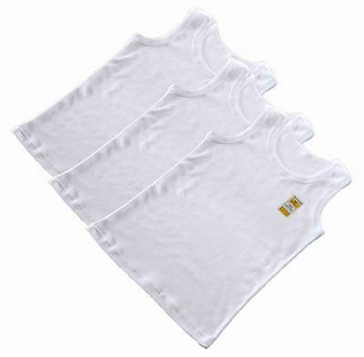 Boys 3 or 7 Pack Plain White Cotton Vests Age 1 2 3 4 5 6 7 8 9 10 11 12 13 Yr