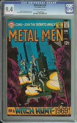 Metal Men #38 Cgc 9.4 High Grade Silver