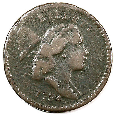 1794 C-8 R-5 Liberty Cap Half Cent Coin 1/2c