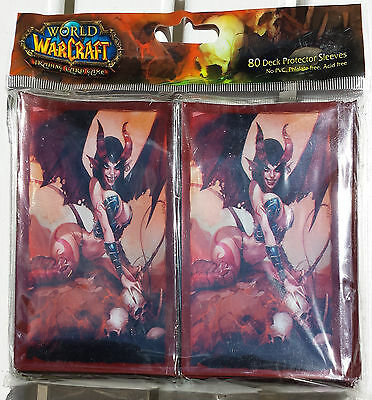World Of Warcraft WOW TCG Selora the Succubus Deck Protector 80 Card Sleeves MTG