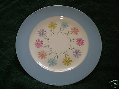 STEUBENVILLE #1296  DINNER PLATE BLUE AND FLORAL