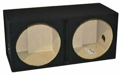 "Dual 12"" Ported Subwoofer Enclosure Vented Sub Box 12 Inch, 1"" Baffle"