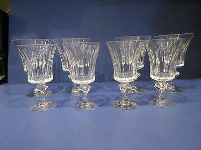 "TIFFIN FRANCISCAN CRYSTAL 17578 4 Water Goblets 5 5/8"" ~ 4 Wine Glasses 5 1/8"" ~"