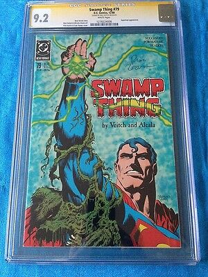 Swamp Thing #79 - DC - CGC SS 9.2 - Signed by Rick Veitch - Superman app.