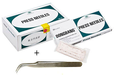 DongBang DB130 Sterile Ear Acupuncture Disposable Press Needles 500pcs+1Forceps
