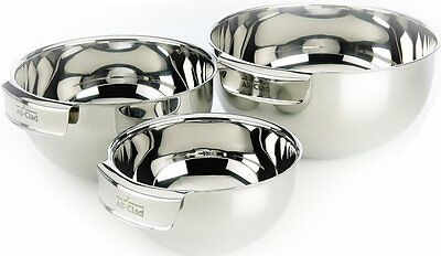 All-Clad MBSET Stainless Steel Dishwasher Safe Mixing Bowls Set Kitchen Accessor