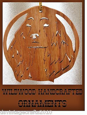 Cocker Spaniel Hand Crafted Wood Decorative Ornament by Wildwood Crafts