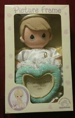 """Precious Moments Plush Angel With Heart Picture Frame """"RARE"""""""