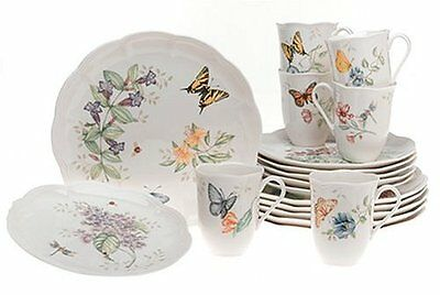Lenox Butterfly Meadow 18-Piece Dinnerware Set Service for 6  New Free  sc 1 st  PicClick & LENOX BUTTERFLY MEADOW 18-Piece Dinnerware Set Service for 6  New ...