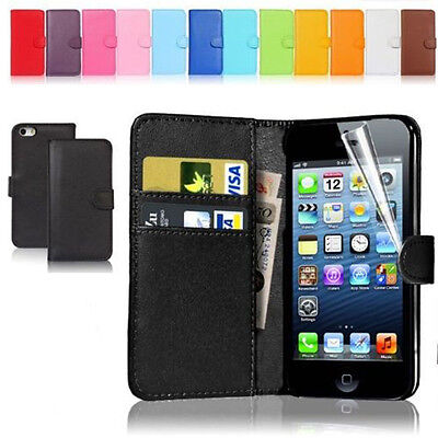 New Wallet Flip PU Leather Phone Case Cover For iPhone Samsung LG