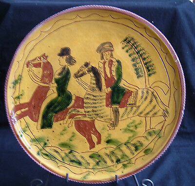 Breininger Pottery 12 inch Redware Plate 1973 ~ # 6 ~ Berks County Pa