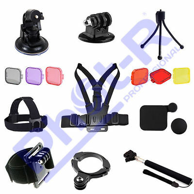 Phot-R Accessories Wrist Chest Head Strap Tripod Handle Mount Kit for GoPro 4 3+