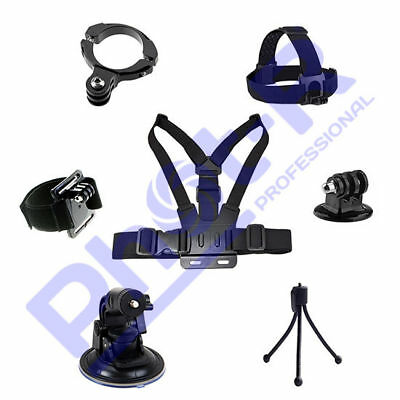 Phot-R Accessories Mount Chest Head Strap Tripod Handlebar Kit for GoPro 5 4 3+