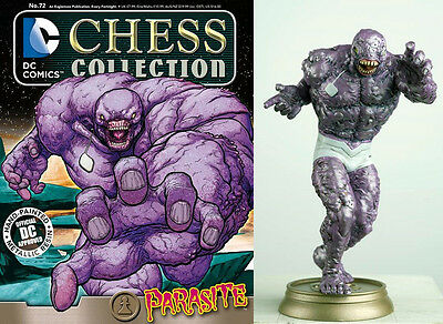 FIGURA DC CHESS AJEDREZ COLLECTION LIGA JUSTICIA 72 PARASITE + REVISTA