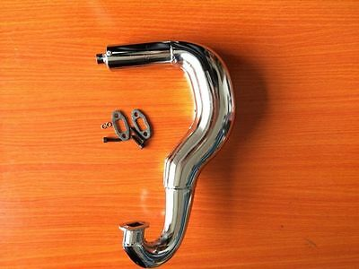 Chrome Exhaust Tuning pipe Fit 1/6 FG 4WD Baja Marder Beetle Stadium Truck