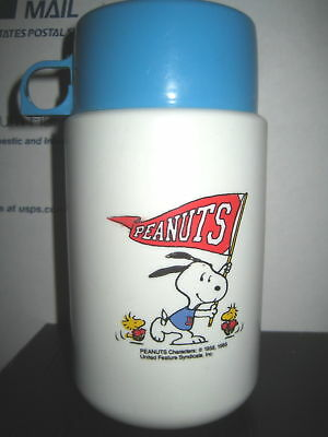 """1 RARE HTF COLLECTABLE PEANUTS , SNOOPY LUNCH BOX PLASTIC THERMO, """" SOLD AS IS """""""