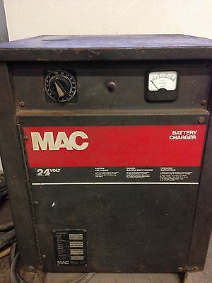 24 Volt Mac Electric Forklift Battery charger (Cords included)
