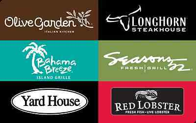 Darden Gift Card $25/ $50/ $100 - Mail delivery