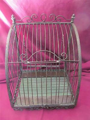 VINTAGE WROUGHT IRON DECORATIVE BIRDCAGE TABLE MOUNT OR WALL MOUNT