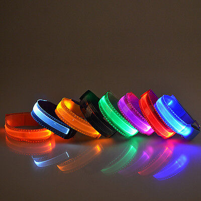 Hot Sale LED Shine Armband Safety Reflective Belt/strap Snap Wrap Arm Band Belt