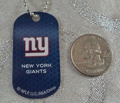 NFL New York Giants Blue Logo Dog tag Key chain or Necklace Backpack Gift Party