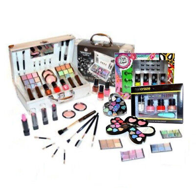 Set Make Up 100 Pezzi - Valigia trucco cosmetici - Trousse palette pennelli