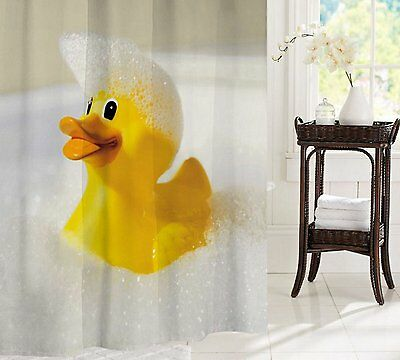CLEARANCE Duck Loves Shower Fabric Shower Curtain 2m Long Free Shipping