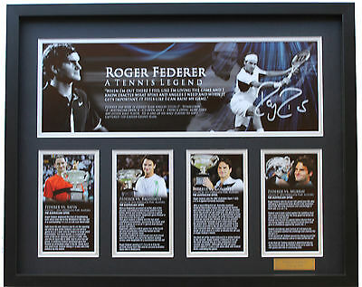 New Roger Federer Signed Limited Edition Memorabilia