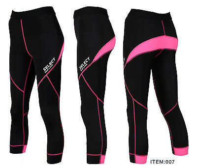 Select Women Compression 3/4 Leggings BaseLayer Recovery Tights Yoga,Gym Running