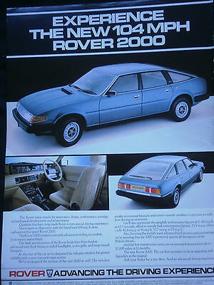 ROVER 2000 - 1 page COLOUR ADVERT