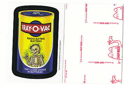 2012 WACKY PACKAGES OLD SCHOOL SERIES 4 **X-RAY-O-VAC** RED LUDLOW BACK
