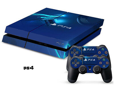 MYSTERIOUS BLUE 0110 DECAL SKIN PROTECTIVE STICKER for PS4 CONSOLE CONTROLLER