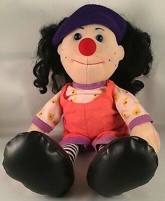 """Loonette The Clown Vtg RARE Molly Big Comfy Couch PBS 20"""" Doll Plush Vintage HTF"""