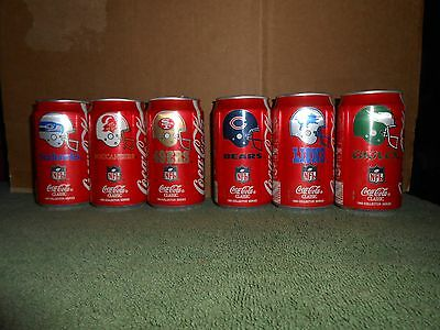 1 Coca Cola/coke Classic 1993 Collector Series Nfl Team Logo Can You Chose Rare