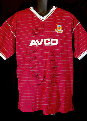 West Ham 1986 Replica Football Shirt Signed By 12