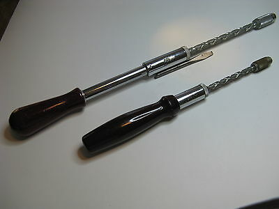 VINTAGE 2 STANLEY YANKEE # 130 A & 135 A PUSH DRILL BEAUTIFUL CONDITION